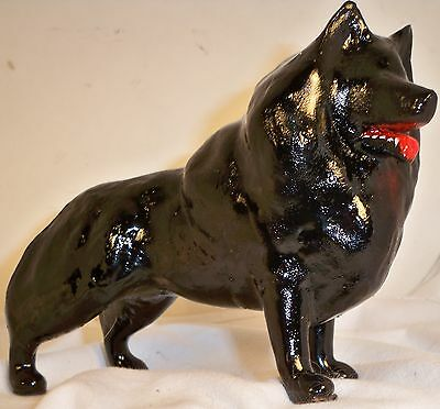 Dog Figurine SCHIPPERKE Standing USA ONE OF A KIND WONDERFUL
