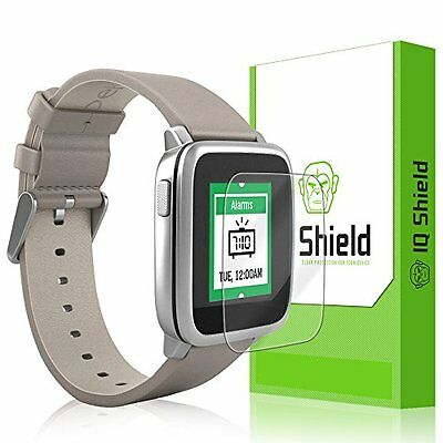CRYSTAL CLEAR 6PK Screen Protector Film Accessories for PEBBLE TIME / STEEL