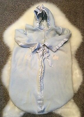 Antique Vintage Baby Bunting~Outerwear~Cocoon~Blue~Cotton?~Baby Photo Prop~Dolls