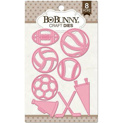 Bo Bunny Let's Play (1) Pack Metal Die Cuts Sports Soccer Football Basket Ball