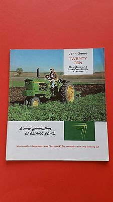 "John Deere 2010 Tractor Brochure  ""Rare""  A New Generation Of Earning Power"