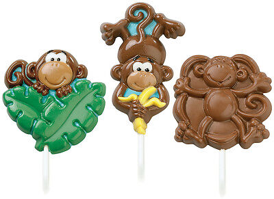 Lollipop Mold-Monkey 3 Cavity (3 Designs)