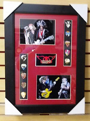 Aerosmith Picture Guitar Picks Matted and Ready To Frame Excuse the Glare