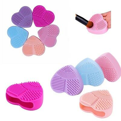Heart Shaped Make Up Brush Cleaner / Hand Glove Scrubber Cleaning Tool / Gift