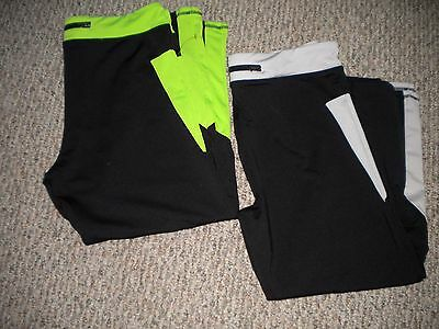 Women's S2 Tight fit stay cool active capris,LOT OF 2 PAIR~SIZE XL~FABULOUS COND