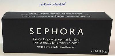 Sephora Collection Luster Matte Long-Wear Lip Color 0.14 oz - 3 shades available