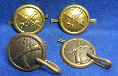 Indian Wars Army Infantry and Cavalry Shako Buttons Sets Lot Of 4
