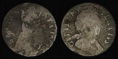 ENGLAND GB UK - 1699 Farthing - William III - Date at End of Legend