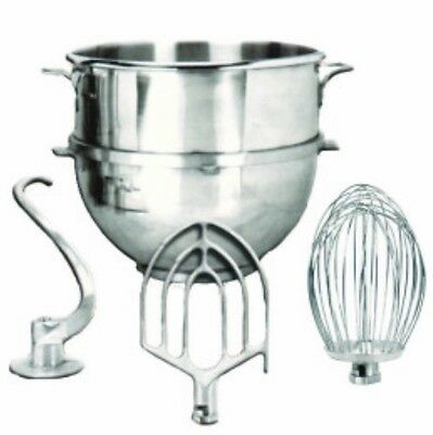 20QT. Hobart Mixer Attachments Package for A200 - Bowl, Hook, Whip, Flat Beater