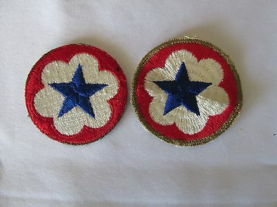 WWII US Army Service Force  patch OD border & cut edge 2 patches SAN FRANCISCO