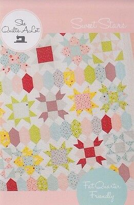 Sweet Stars - fun and easy pieced quilt PATTERN - She Quilts a Lot