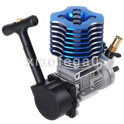 HSP 02060 Blue VX18 Engine 2.74cc Pull Starter for RC 1/10 Nitro Car Buggy In AU