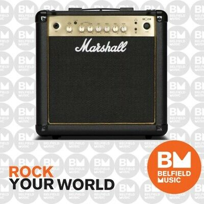 Marshall MG15GR Guitar Amplifier Combo Amp 15W w/ Reverb MG-15 GOLD SERIES
