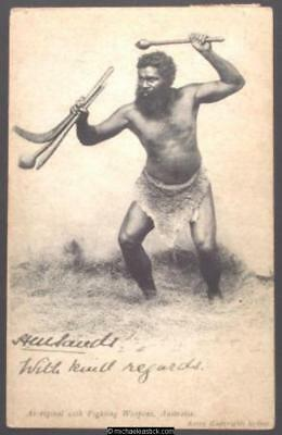Aboriginal with Fighting Weapons, Australia