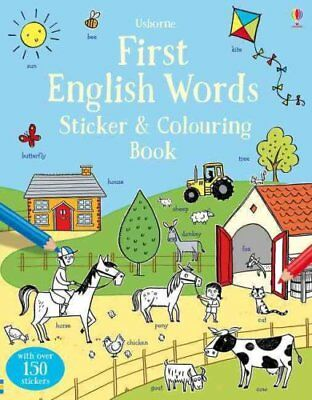 First English Words Sticker and Colouring Book by Kirsteen Robson (Paperback,...