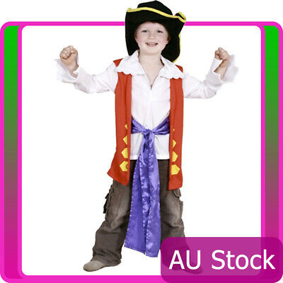 The Wiggles Captain Feathersword Costume Boys Child Kids Fanct Dress Book Week