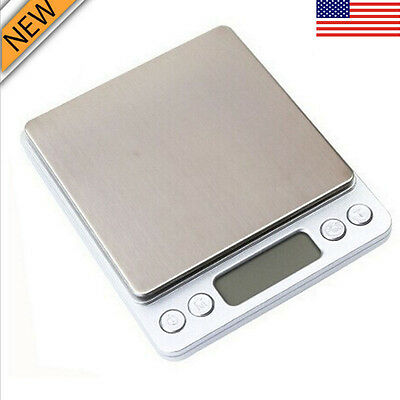 0.1 Gram Precision Jewelry Electronic Digital Balance Weight Pocket Scale 2000g