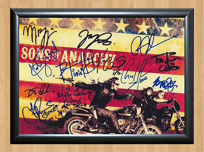 Sons of Anarchy Cast x12 Signed Autographed A4 Print Photo Poster Memorabilia 1