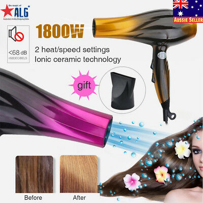 Ionic Professional Salon Hair Blow Dryer Powerful Super Speed Blower 1800W