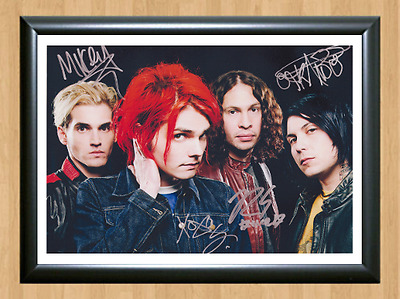 My Chemical Romance Danger Days Signed Autographed A4 Photo Poster Memorabilia