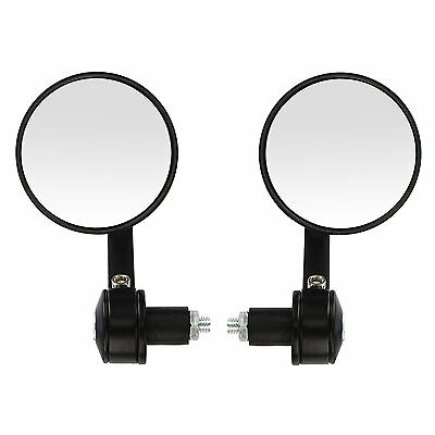 """22mm 7/8"""" Universal Motorbike Rear View Side Bar End Mirrors Motorcycle Scooter"""