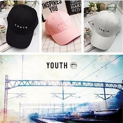 BTS YOUTH KPOP Hat Unisex Snapback Adjustable JIMIN SUGA Embroidery Hip Hop Cap