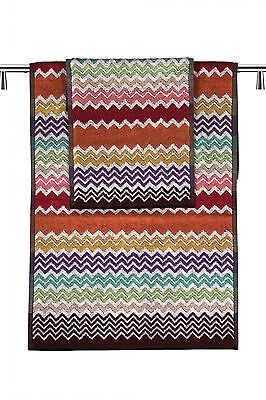 Missoni Home set 1+1 156 Rufus with zig-zag on red