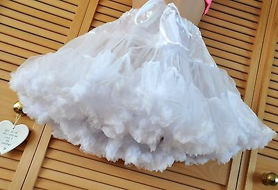 PP25 - Fluffy feminine French Maid petticoat, BN, adult, double layered, white