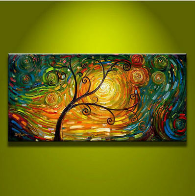 MODERN ABSTRACT HUGE WALL ART OIL PAINTING ON CANVAS art tree