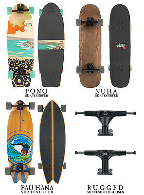 JUCKER HAWAII Carving Skateboard Skatesurfer ® - Limited Edition, Nuha und Pono