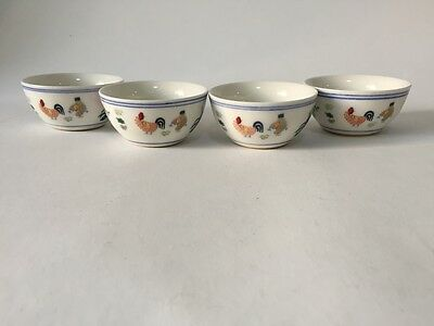 Set of 4 Chinese Antique Porcelain Cup 鸡缸杯 Ming Dy Chenghua
