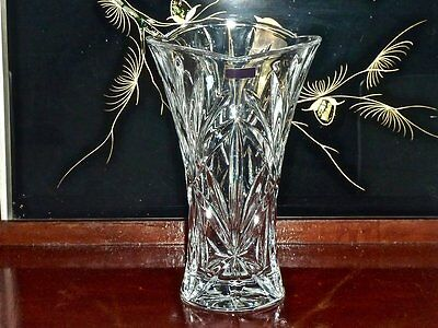 Magnificent Hand Cut Crystal Waterford ''marquis' Vase New