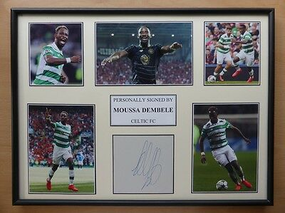 Moussa Dembele Signed Celtic Multi Picture Display - 2016-17 Season (10308)