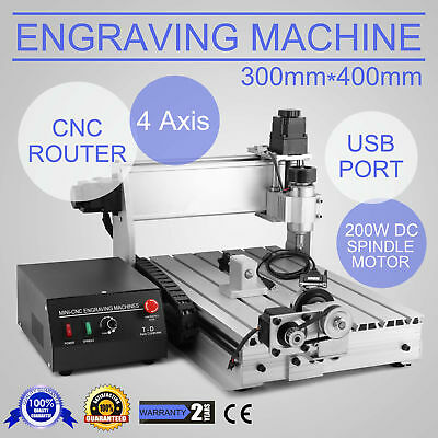 Usb Cnc Router Engraver Engraving Cutter 4Axis 3040T Carving Milling Woodworking