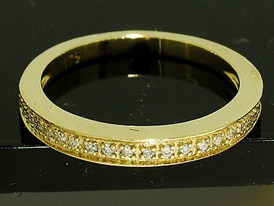 s R199- Genuine 9ct SOLID Yellow Gold NATURAL Diamond WEDDING BAND Ring size L
