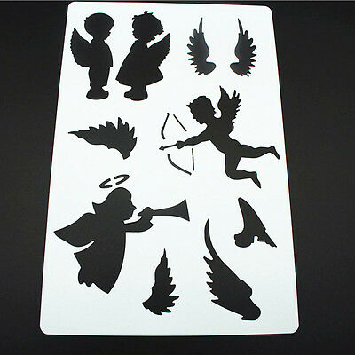 2Pcs Walls Painting DIY Craft Tools Paper Cards Scrapbooking Stencils