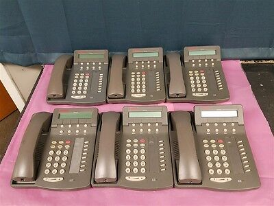 LOT OF 6 AVAYA Lucent 6408D+ Business Phones - TESTED!