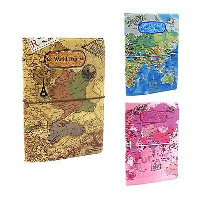 Passport Holder Wallet Case Travel World Map ID Ticket Receipt Organiser