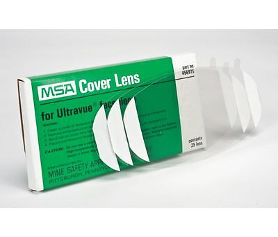 MSA Cover Lens Ultravue Facepiece 456975 Pack of 25 Full Facepiece Respirator