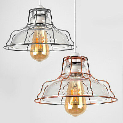 Industrial Vintage LED Metal Glass Non Electric Indoor Ceiling Shade Lamp Light