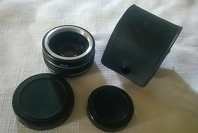 Star-D Auto Tele Converter 2x with Case for Pentax K1000 Vintage c.1970s-80s
