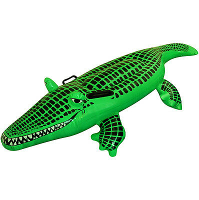 Large 150cm Inflatable Crocodile Alligator Beach Pool Party Blow Up Float Toy UK