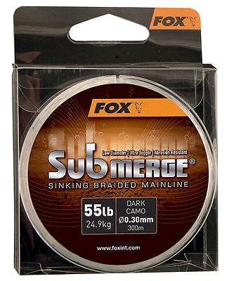 Fox Submerge Sinking Braided Mainline 300m or 600m Spool