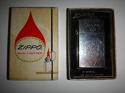 Year 1966 Zippo Lighter VIETNAM LONG BINH 1966, US Army II FIELD FORCE + BOX