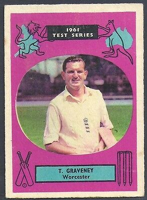 A&BC-CRICKET ERS 1961 TEST SERIES (90MMx64MM)-#16- WORCESTERSHIRE - TOM GRAVENEY