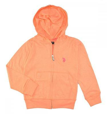 US Polo Assn Toddler/Little Girls' Midweight Jersey Hoodie 2T 3T 4T 4 5/6 6X $32
