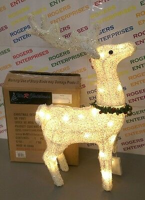 WeRChristmas Large 63cm Reindeer Figure with 35 LED Lights Christmas Decoration