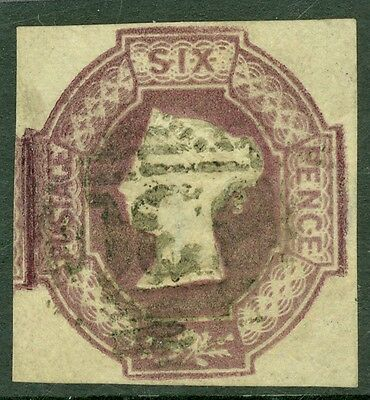 SG 58 6d mauve. Very fine used. Four large margins. Clean reverse CAT £1000