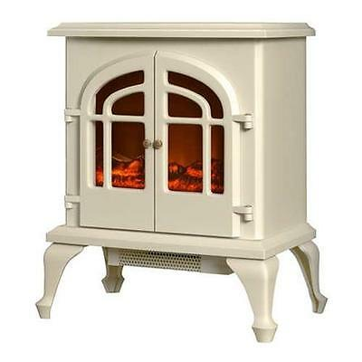 Warmlite Cream Electric Stove Fire - Free Standing Log Effect WL46015C