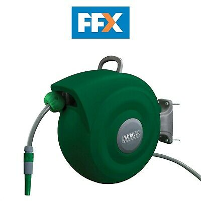 Faithfull HL-KW20 Auto Hose Reel With Wall Bracket 20m